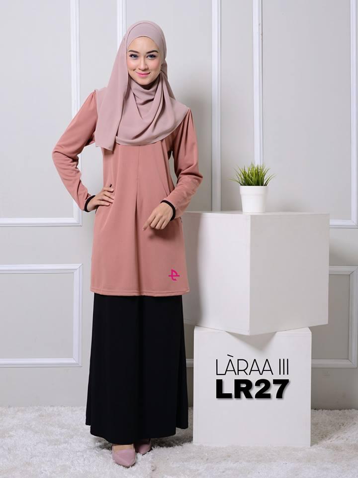 blouse-muslimah-crepe-laraa-lr27
