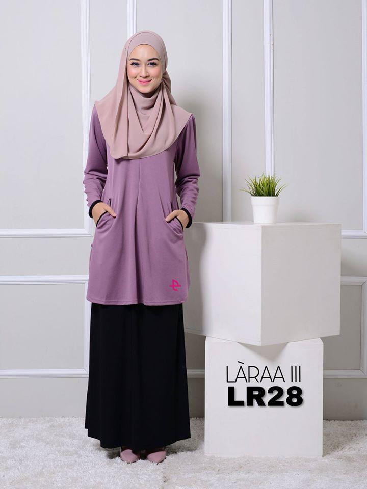 blouse-muslimah-crepe-laraa-lr28