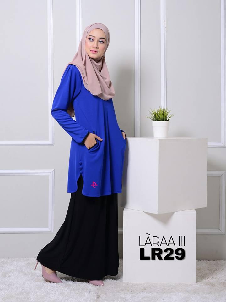 blouse-muslimah-crepe-laraa-lr29