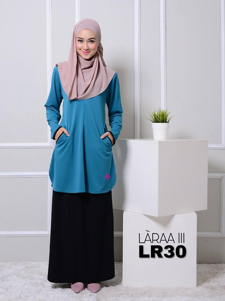 blouse-muslimah-crepe-laraa-lr30