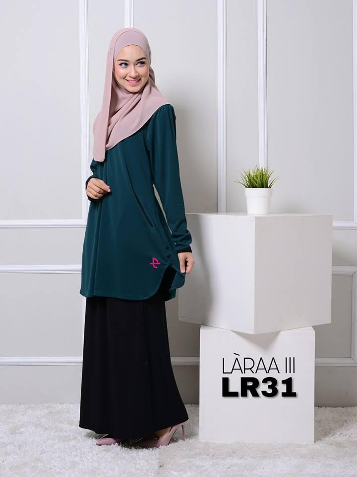 blouse-muslimah-crepe-laraa-lr31