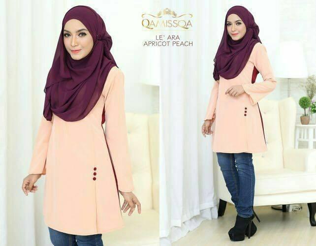 blouse-muslimah-le-ara-apricot-peach-a