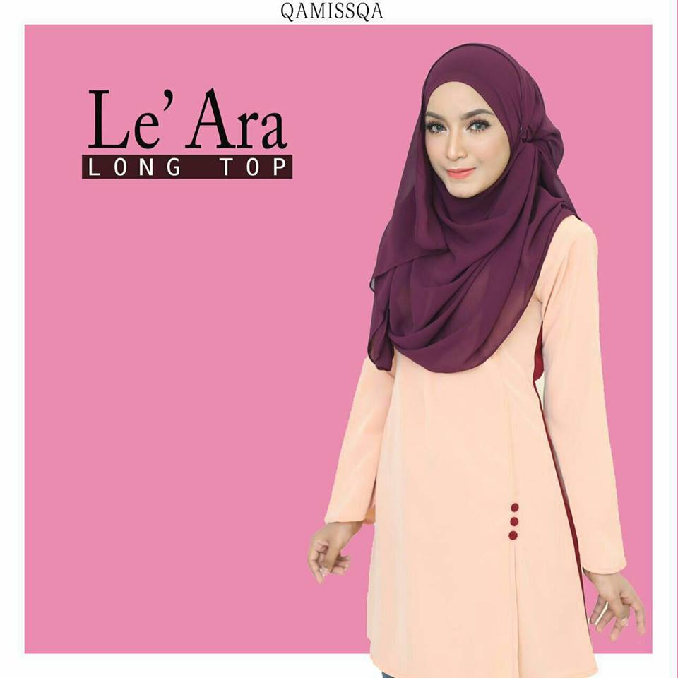 blouse-muslimah-le-ara-apricot-peach-b