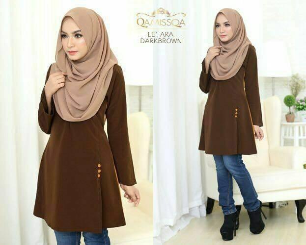 blouse-muslimah-le-ara-dark-brown-a