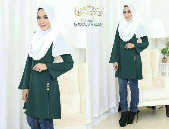 blouse-muslimah-le-ara-emerald-green-a