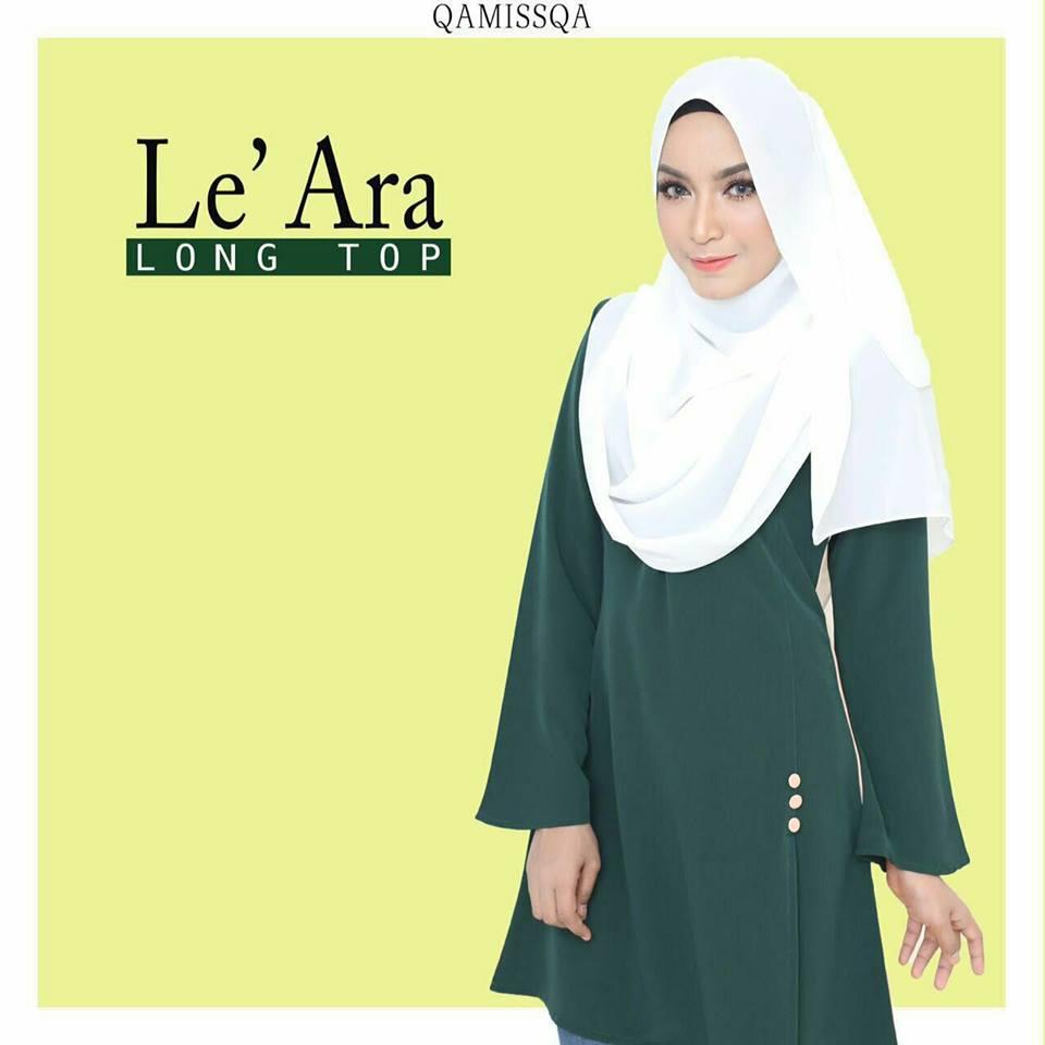 blouse-muslimah-le-ara-emerald-green-b