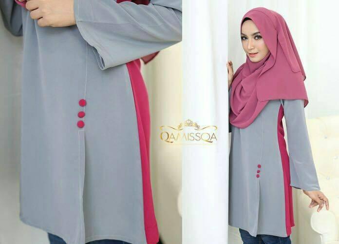 blouse-muslimah-le-ara-grey-b