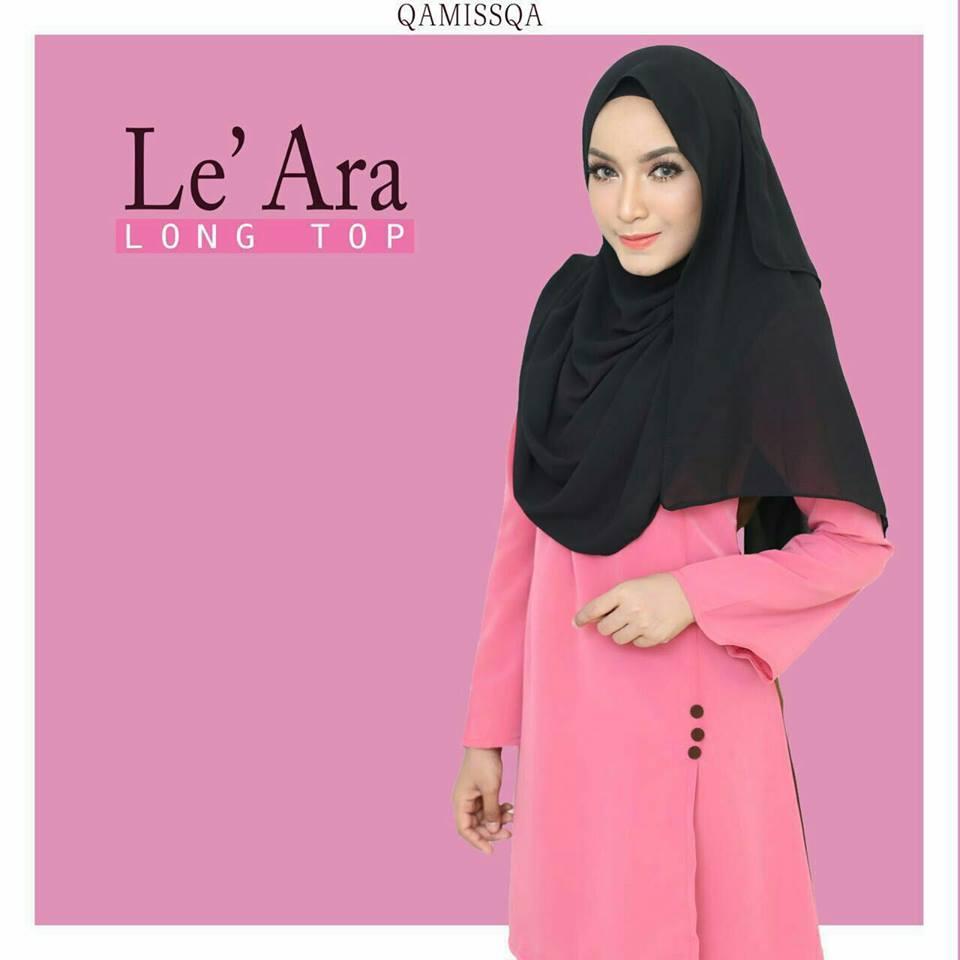 blouse-muslimah-le-ara-hot-pink-b