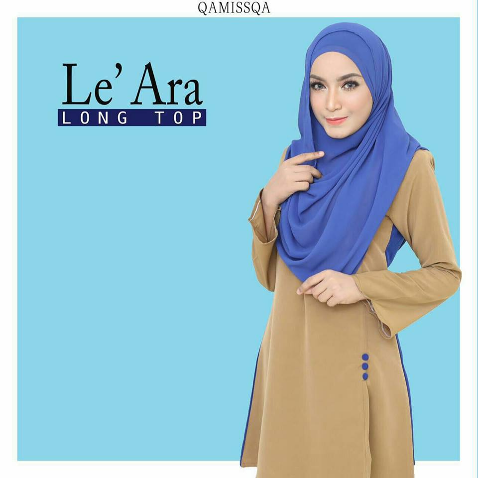 blouse-muslimah-le-ara-khaki-a