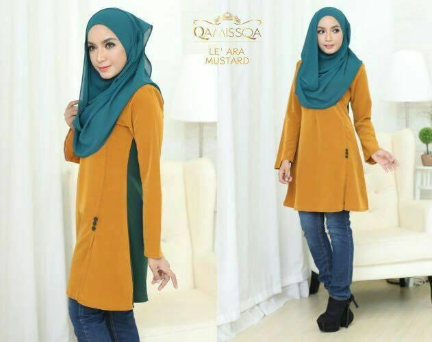 blouse-muslimah-le-ara-mustard-a