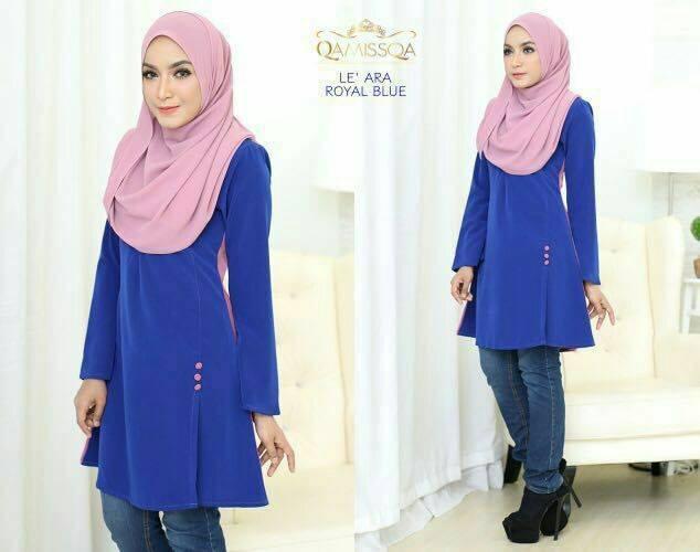 blouse-muslimah-le-ara-royal-blue-a