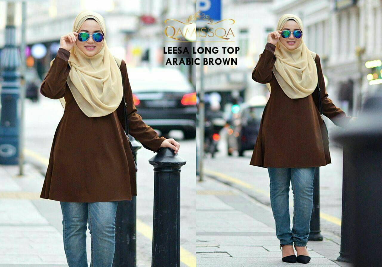 blouse-muslimah-leesa-arabic-brown