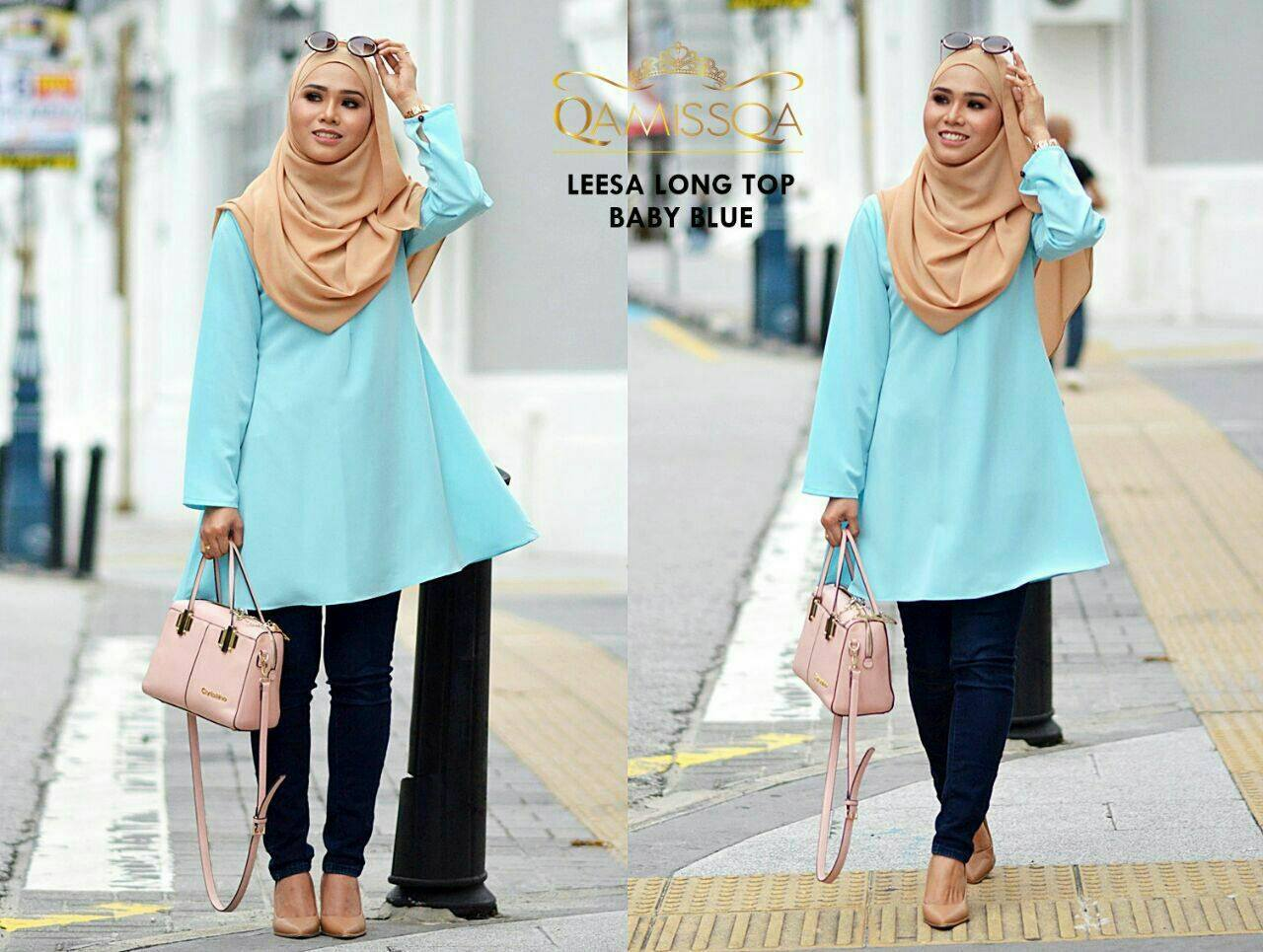 blouse-muslimah-leesa-baby-blue