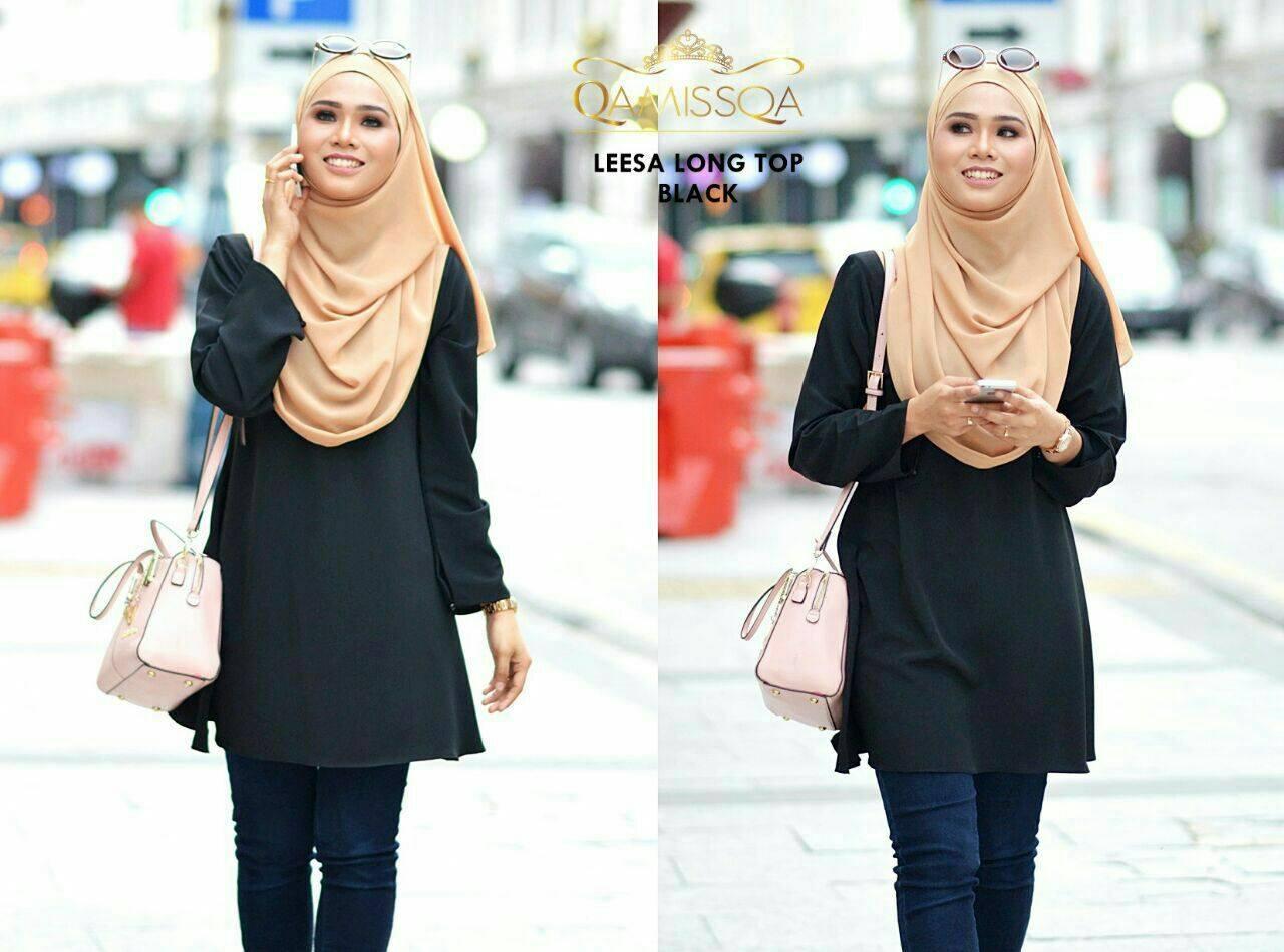 blouse-muslimah-leesa-black