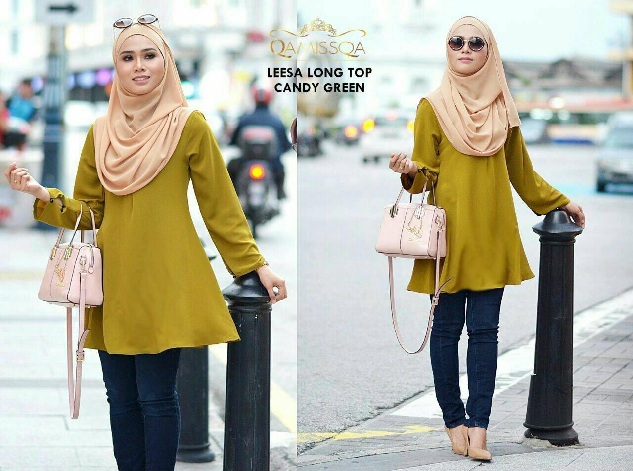 blouse-muslimah-leesa-candy-green