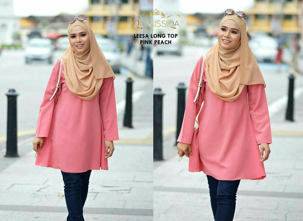 blouse-muslimah-leesa-pink-peach