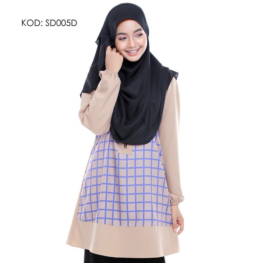 blouse-muslmah-husna-crepe-sd005d