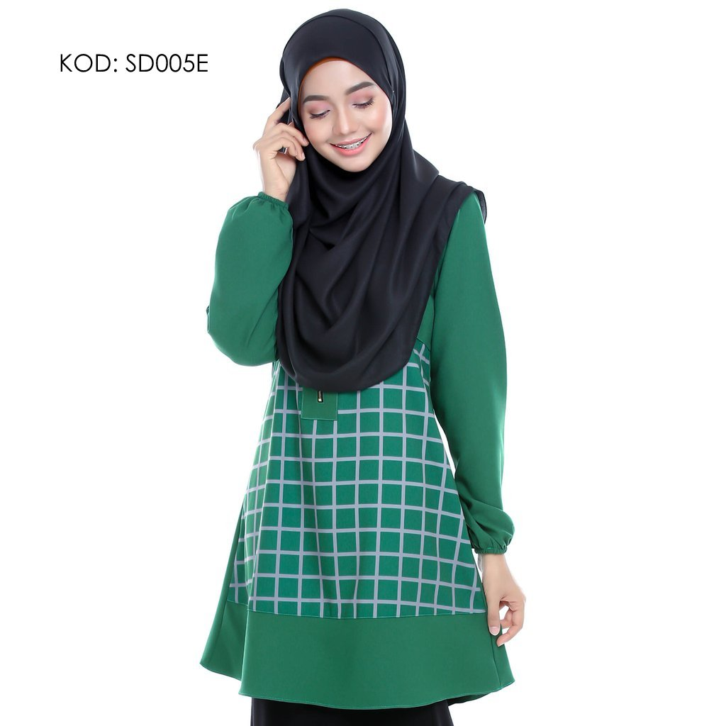 blouse-muslmah-husna-crepe-sd005e