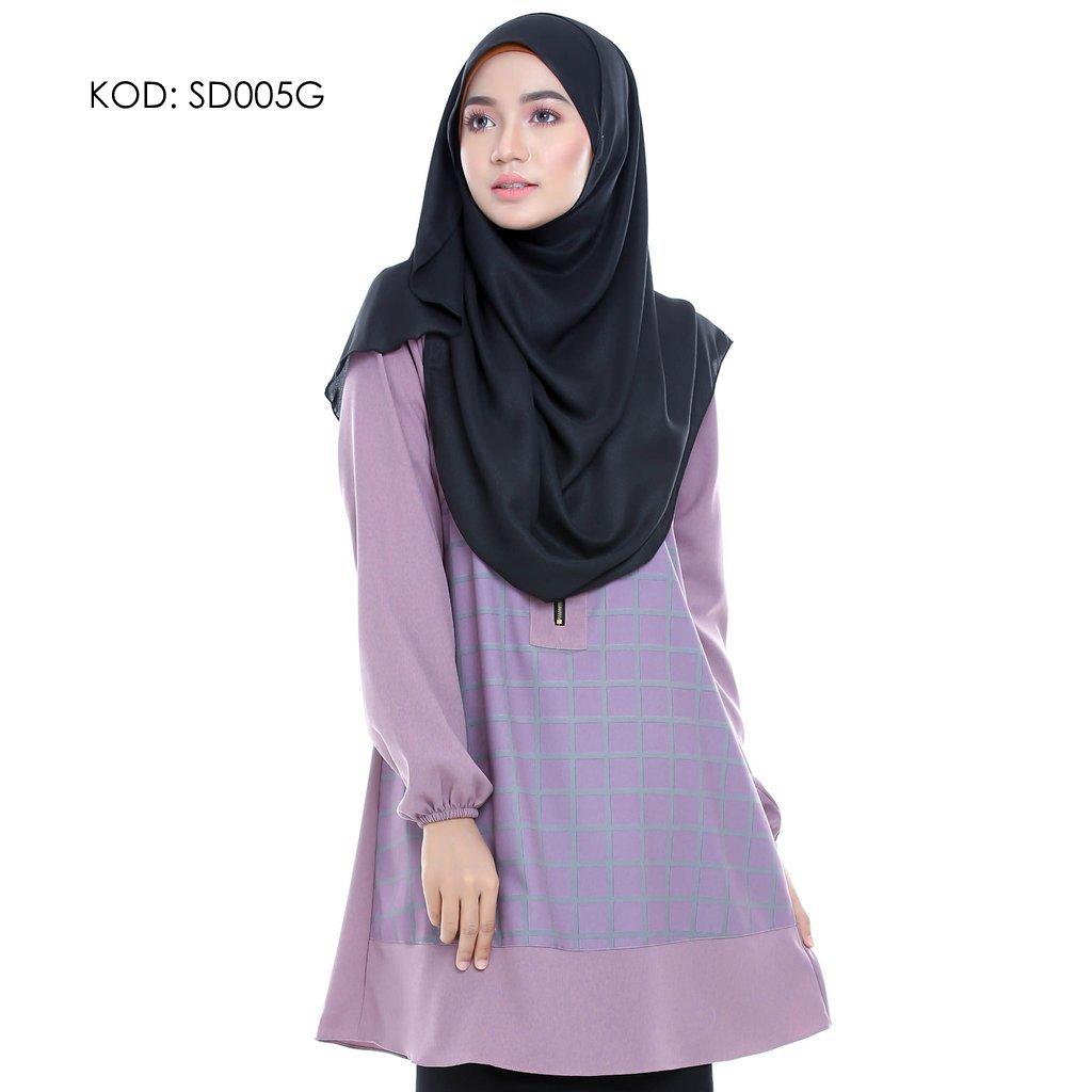 blouse-muslmah-husna-crepe-sd005g