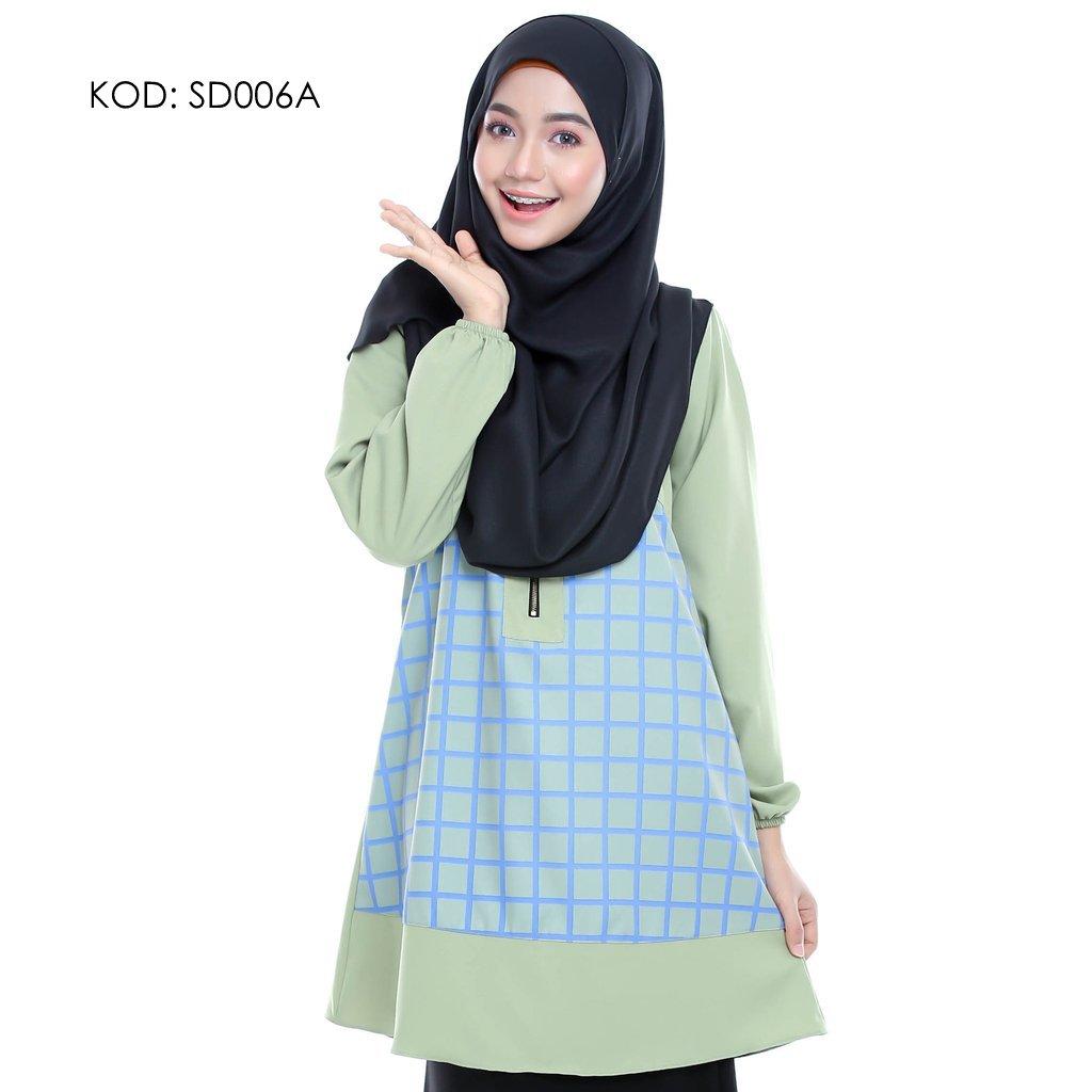blouse-muslmah-husna-crepe-sd006a