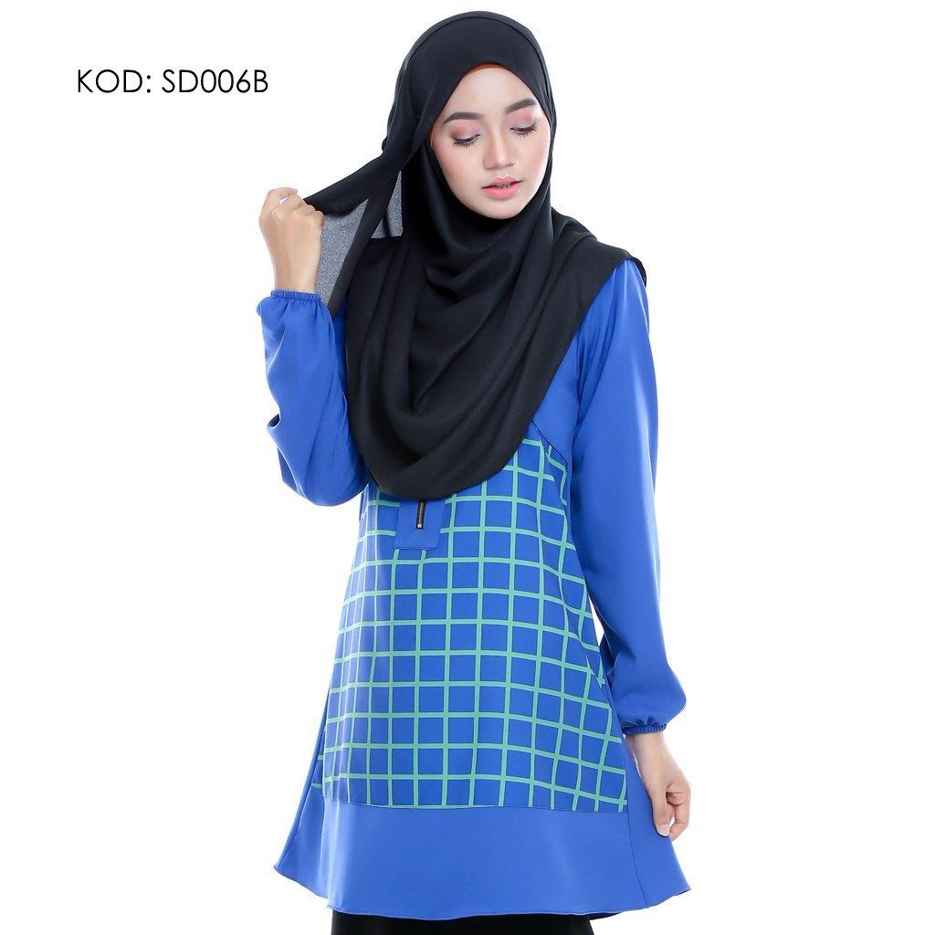 blouse-muslmah-husna-crepe-sd006b