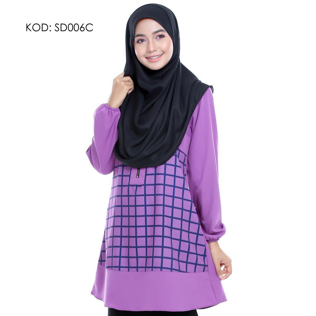 blouse-muslmah-husna-crepe-sd006c
