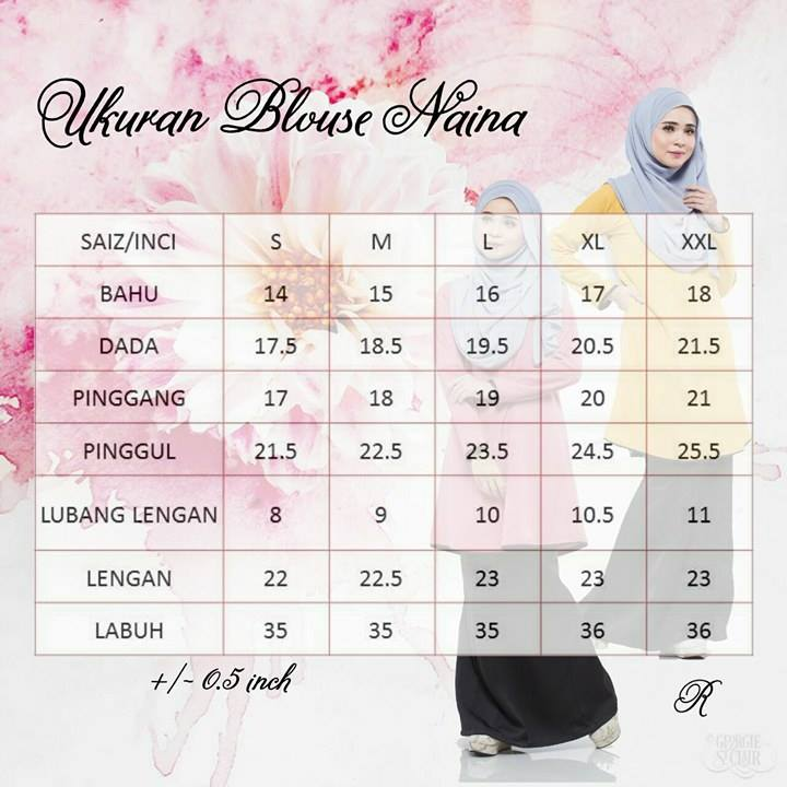 blouse-naina-ukuran