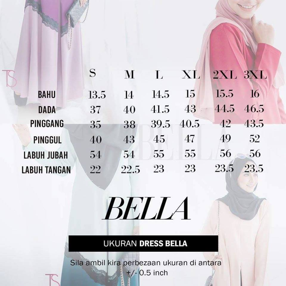 dress-bella-ukuran