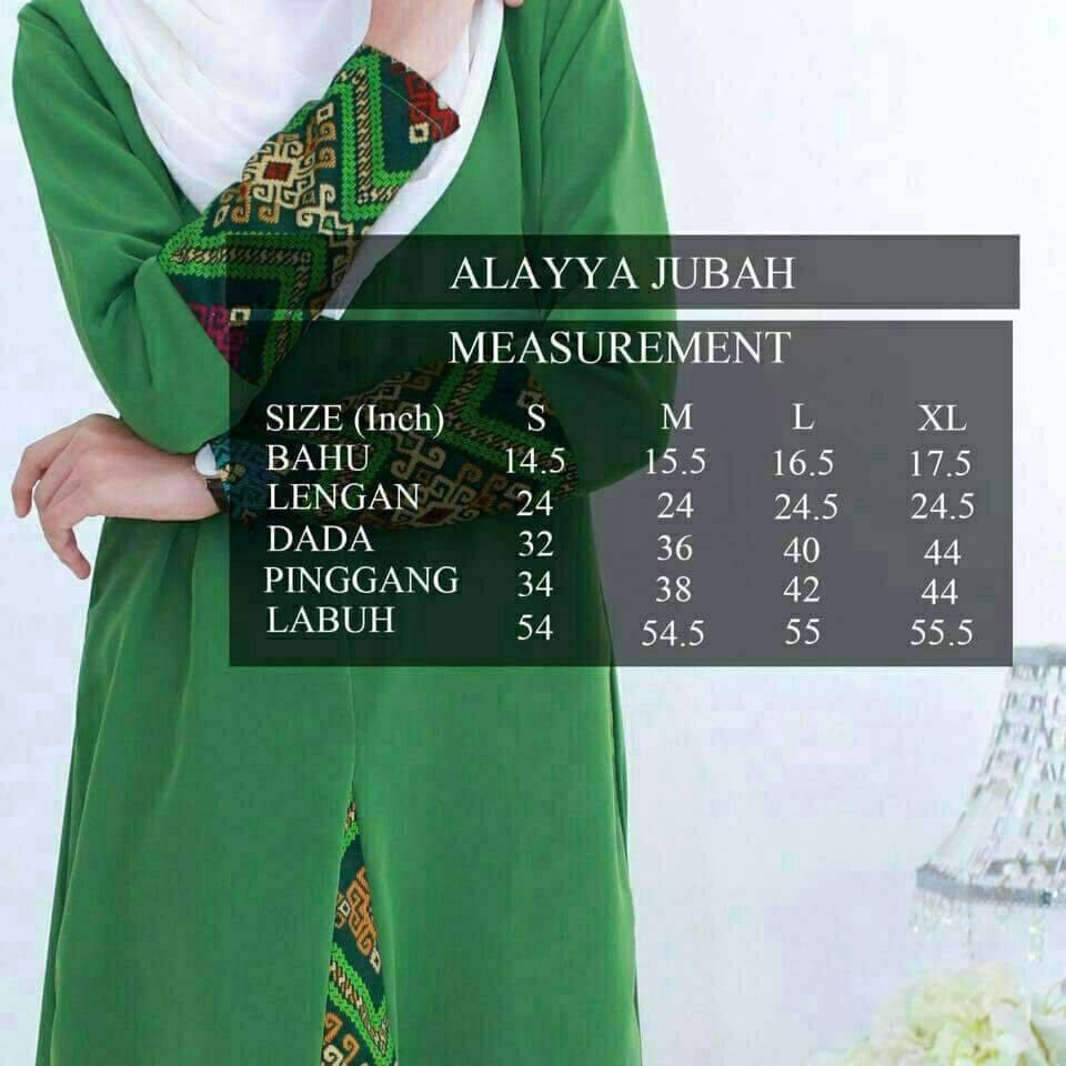 jubah-alayya-ukuran