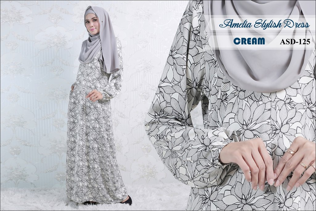 JUBAH AMELIA STYLISH DRESS ASD125