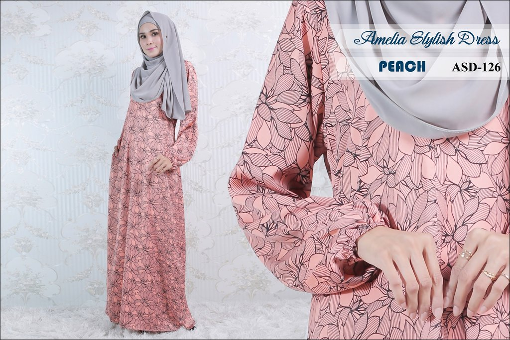 JUBAH AMELIA STYLISH DRESS ASD126