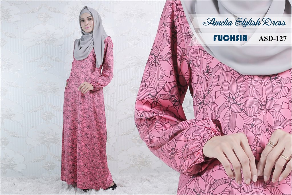 JUBAH AMELIA STYLISH DRESS ASD127