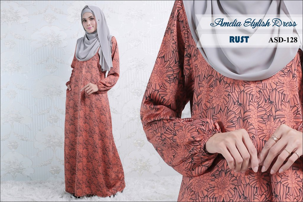 JUBAH AMELIA STYLISH DRESS ASD128