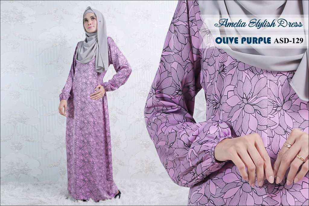 JUBAH AMELIA STYLISH DRESS ASD129