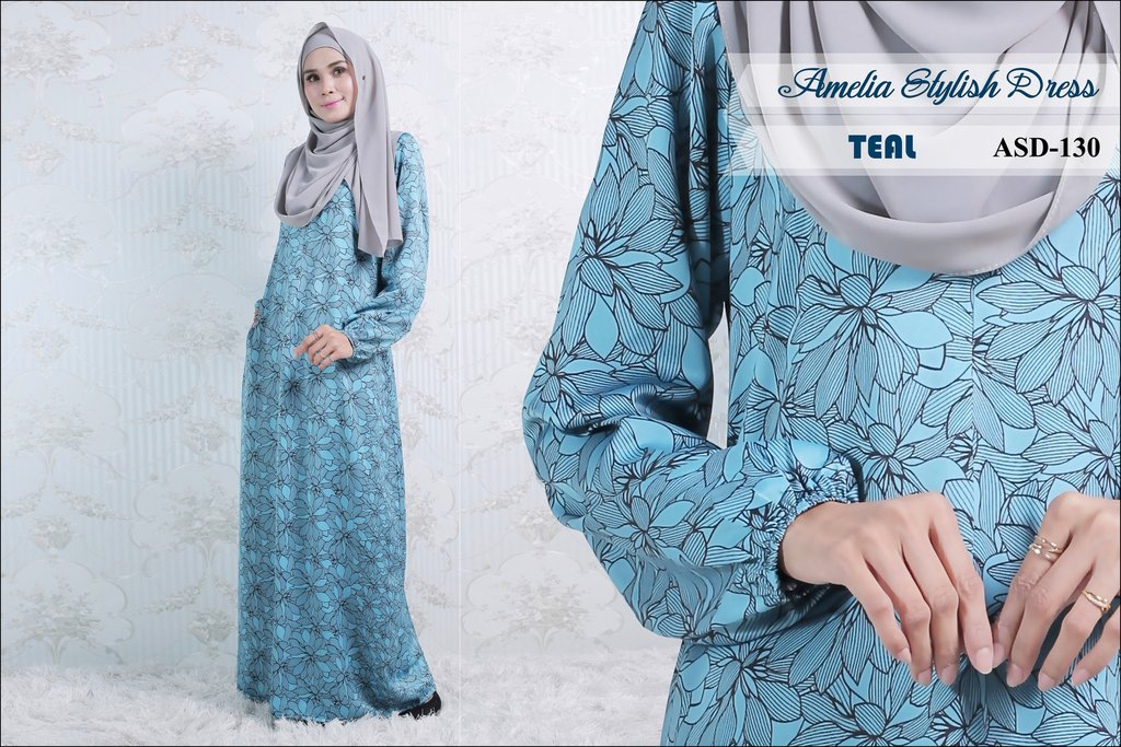 JUBAH AMELIA STYLISH DRESS ASD130