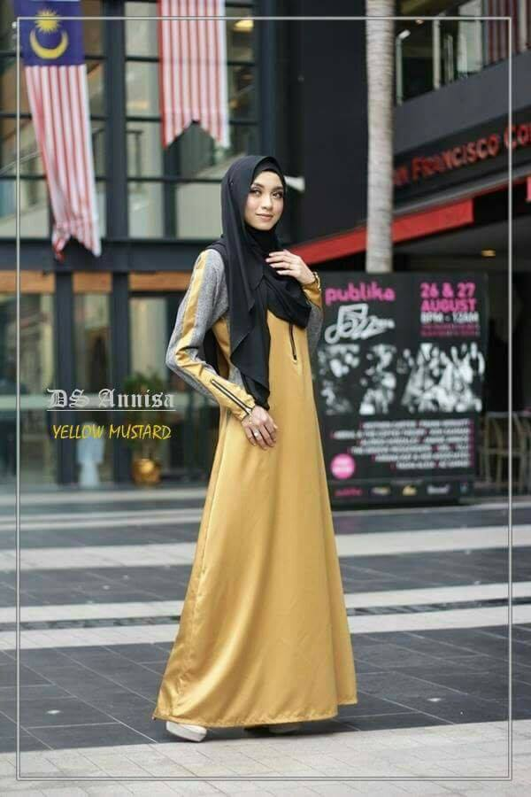 jubah-an-nisa-yellow-mustard