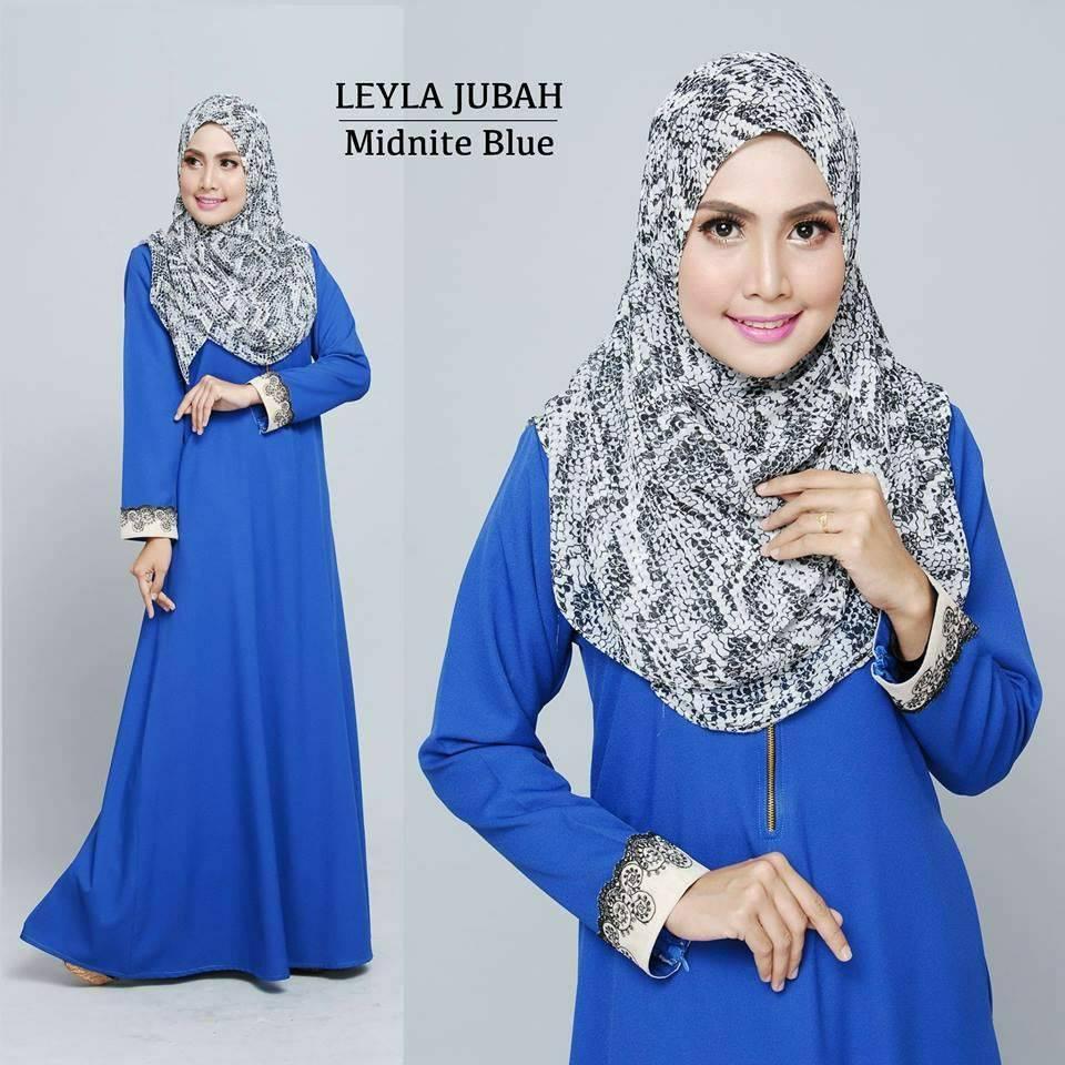 jubah-leyla-lacey-midnite-blue