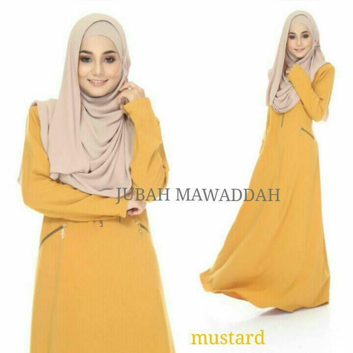 jubah-mawaddah-mustard