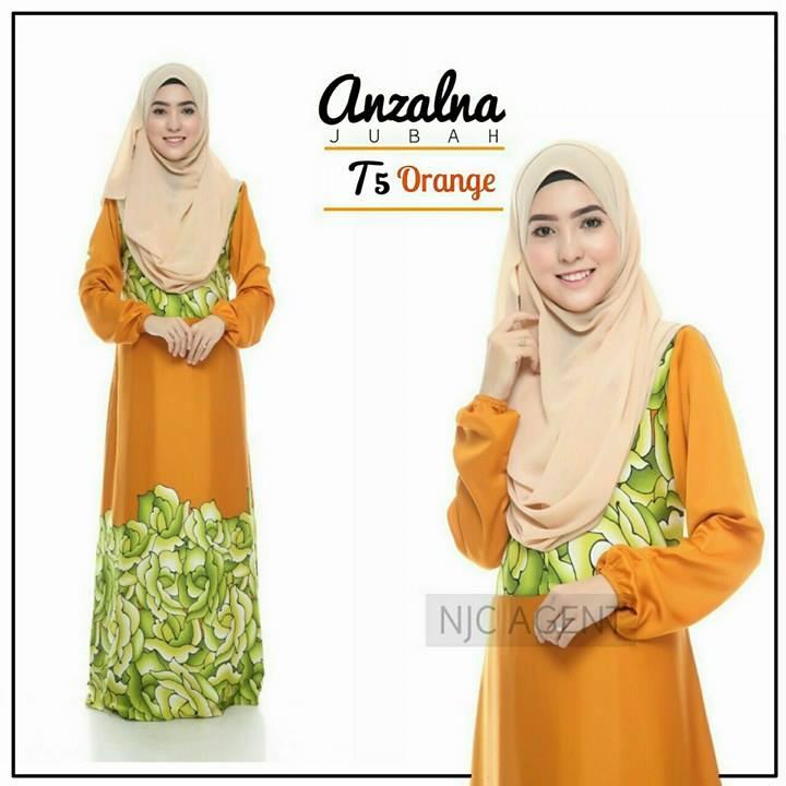 jubah-motif-anzalna-t5-orange