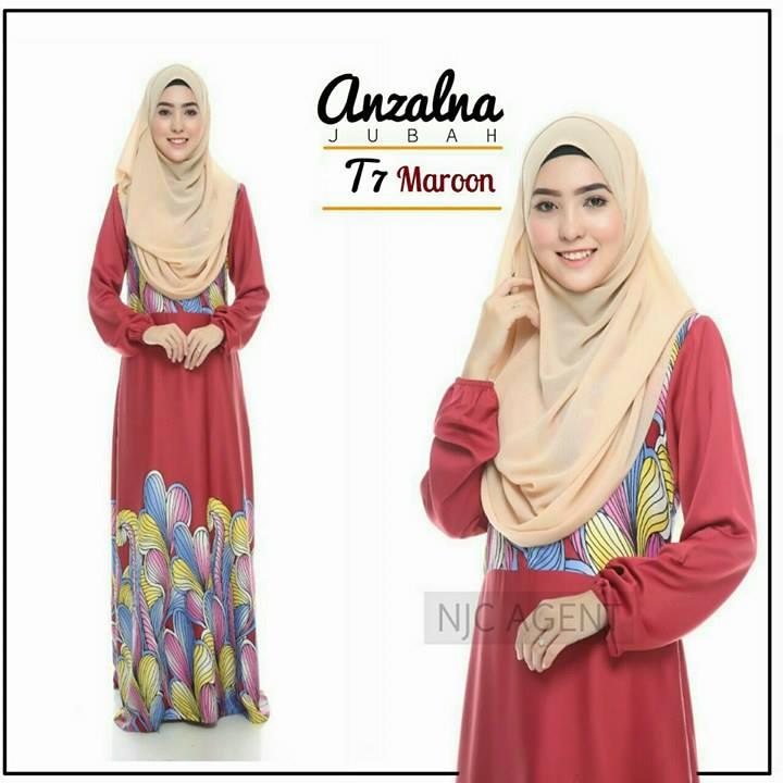 jubah-motif-anzalna-t7-maroon