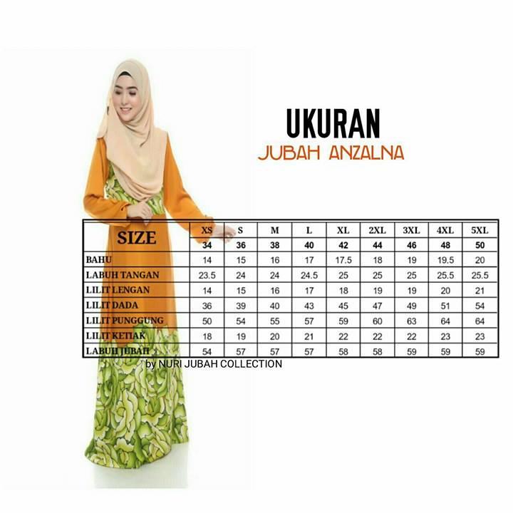 jubah-motif-anzalna-ukuran