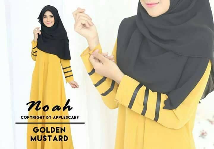 jubah-noah-golden-mustard