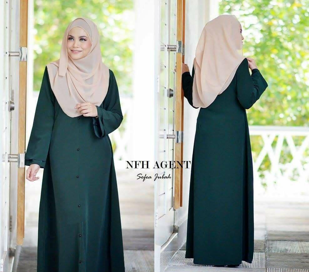 jubah-sofea-emerald-green