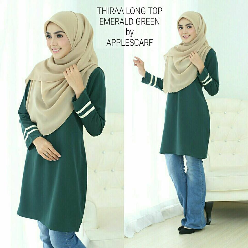 long-top-muslimah-thiraa-emerald-green