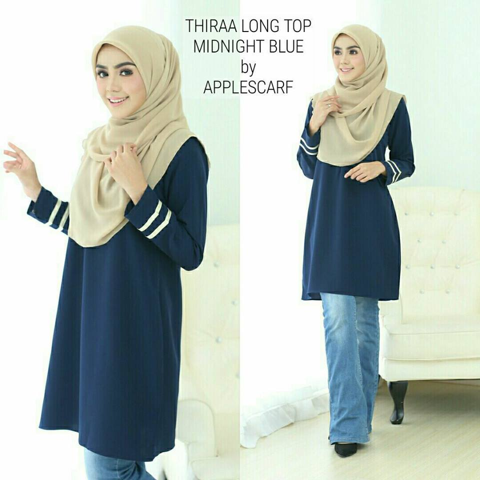 long-top-muslimah-thiraa-midnight-blue