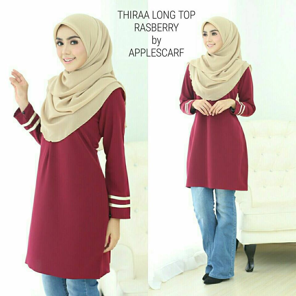 long-top-muslimah-thiraa-raspberry