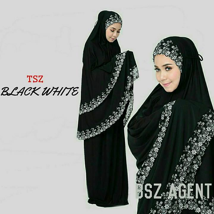 telekung-lycra-renda-black-white