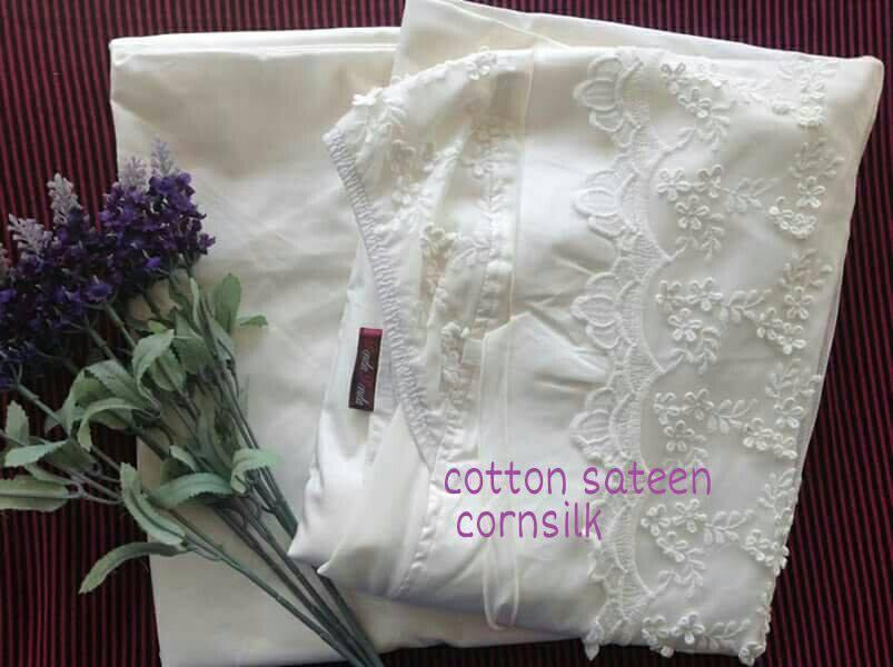 telekung-renda-premium-cotton-sateen-cornsilk-3