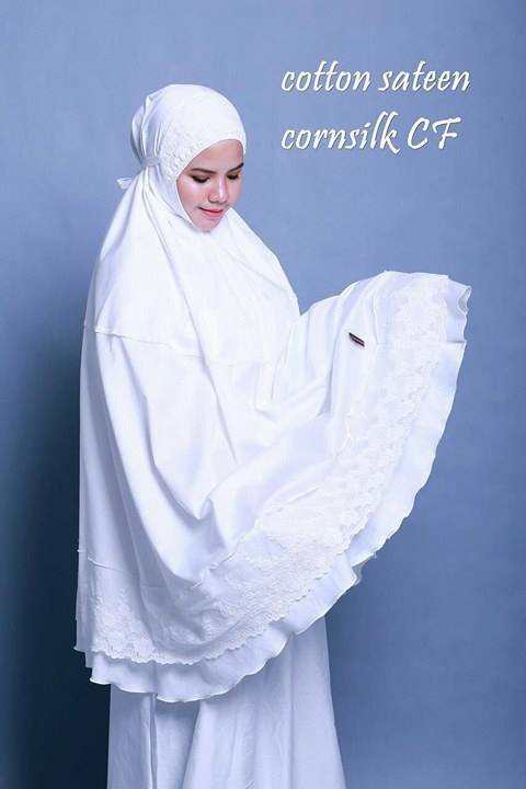 telekung-renda-premium-cotton-sateen-cornsilk-7