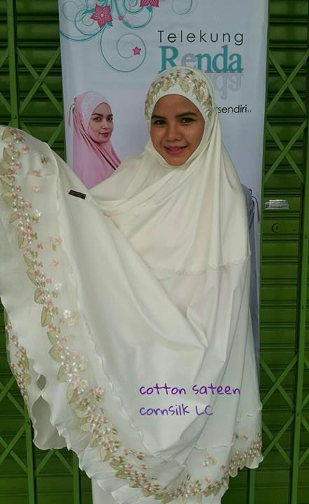 telekung-renda-premium-cotton-sateen-cornsilk